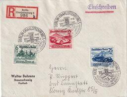 ALLEMAGNE 1939 LETTRE RECOMMANDEE DE BERLIN AVEC CACHET ARRIVEE - Deutschland
