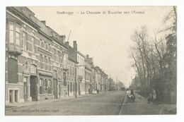 Gent La Chaussée De Bruxelles Vers L'Arsenal Oude Postkaart Geanimeerd Gand Carte Postale Ancienne Animée - Gent