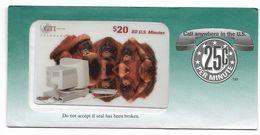 GTI  U.S.A., Fauna, $20 Prepaid Phone Card, SAMPLE, # Gti-12 - Schede Telefoniche