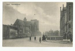 Gent Pont St Michel Oude Postkaart Geanimeerd Gand Carte Postale Ancienne Animée - Gent