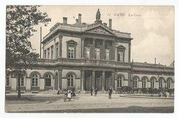 Gent La Gare Oude Postkaart Geanimeerd Gand Carte Postale Ancienne Animée - Gent