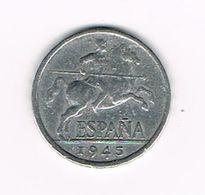 //  SPANJE  5 CENTIMOS  1945 - 10 Céntimos