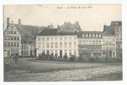 Gent La Place Du Lion D'Or Oude Postkaart Gand Carte Postale Ancienne - Gent