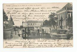 Gent L'Ecluse Et Le Pont De La Porte De Bruxelles Oude Postkaart Gand Carte Postale Ancienne - Gent