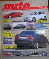 AUTO - N.3 - MARZO 1990 - ANNO VI - FIAT TEMPRA 1.8 Ie - OPEL OMEGA 3.0 - VOLVO 740 TURBO - FORD FIESTA XR2 - JEEP - Motori