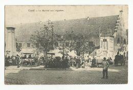 Gent Le Marché Aux Légumes Oude Postkaart Geanimeerd Gand Carte Postale Ancienne Animée - Gent