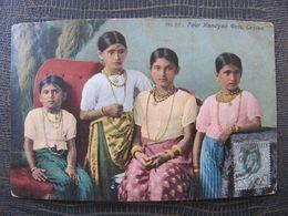 CPA -  CEYLON - CEYLAN - FOUR KANDYAN GIRLS - Sri Lanka (Ceylon)