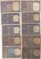 Inde India : Lot De 10 Millésimes : Série Pièce 1 Rupee 1957-63-68-74-76-77-80-81-85-89 (très Mauvais état) - India