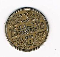 //  LIBANON  25 PIASTRES  1952 - Libano