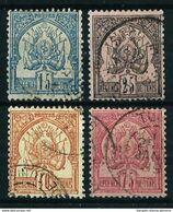 Túnez (Francés) Nº 4/7 Usado Cat.274€ - Tunisia (1888-1955)