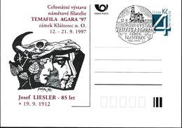 Cesca, 1997, P 26-A5, TEMAFILA AGARA, JOSEF LIESLER - Ganzsachen