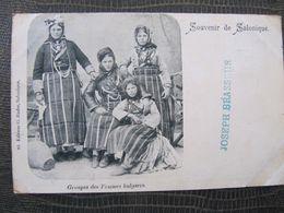 CPA -  GROUPES DE FEMMES BULGARES - SOUVENIR DE SALONIQUE - TURQUIE - Bulgarien