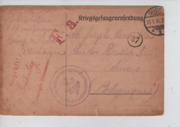 PR7443/ CP PDG-POW-KFS Camp De Guben Censure F.a.-Geprüft > Anvers - WW I