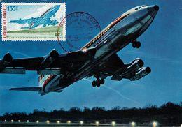 """ARCHIPEL DES COMORES - PA 65 """"BOEING 707B Intercontinental De La T.W.A."""" S/C.M. De MORONI Du 10 Janvier 1975 - Airplanes"""