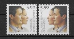 Grönland 2004 Hochzeit Mi.Nr. 416/17 Kpl. Satz ** - Greenland