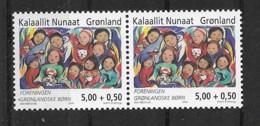 Grönland 2004 Kinder Mi.Nr. 421 Waagr. Paar ** - Greenland