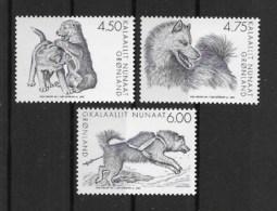 Grönland 2003 Hunde Mi.Nr. 393/95 Kpl. Satz ** - Greenland