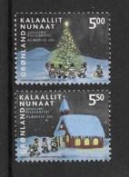 Grönland 2003 Weihnachten Mi.Nr. 403/04 Kpl. Satz ** - Greenland