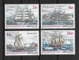 Grönland 2002 Schiffe Mi.Nr. 381/84 Kpl. Satz ** - Greenland