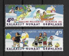 Grönland 2002 Weihnachten Mi.Nr. 389/90 Kpl. Satz ** - Greenland