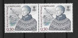 Grönland 2002 Königin Mi.Nr. 386 Waagr. Paar ** - Greenland