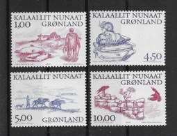 Grönland 2001 Wikinger Mi.Nr. 361/64 Kpl. Satz ** - Greenland