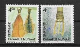 Grönland 2001 Kultur Mi.Nr. 366/67 Kpl. Satz ** - Greenland