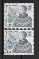 Grönland 2001 Königin Mi.Nr. 369/70 Kpl. Satz ** - Greenland