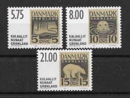 Grönland 2001 Briefmarken Mi.Nr. 371/73 Kpl. Satz ** - Greenland