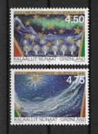 Grönland 2000 Weihnachten Mi.Nr. 359/60 Kpl. Satz ** - Greenland