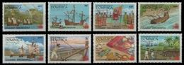 Dominica 1987 - Mi-Nr. 1041-1048 ** - MNH - Schiffe / Ships - Columbus - Dominica (1978-...)