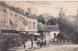 27 VERNON L'entrée De Bizy ,façade Pension De Famille Avec Personnel , Tabac ,recette Buraliste ,voir Aspect - Vernon