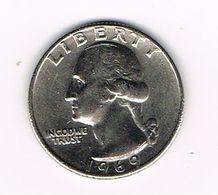 //  U.S.A.  WASHINGTON  1/4 DOLLAR  1969 - Émissions Fédérales