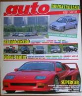 AUTO - N.6 - GIUGNO 1990 - ANNO VI - PEUGEOT 605 SVI PLUS/309 GTI 16V - BMW M3 SE  - NISSAN TERRANO 2,7 TD - OPEL VECTRA - Motori