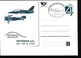 Cesca, 1997, P 26, MEMORIAL; AIR SHOW - Ganzsachen
