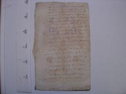 Cahier Manuscrit PARCHEMIN Ecriture XVIIe Siecle - TOUT EST EN PHOTO ;-) - Manoscritti