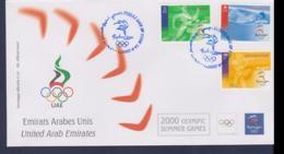 United Arab Emirates FDC 2000 Sydney Olympic Games (NB**LAR9-161A) - Verano 2000: Sydney
