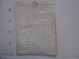 Cahier Manuscrit PARCHEMIN Ecriture 1680 - TOUT EST EN PHOTO ;-) - Manoscritti