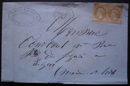 Caussade GC 786, Avril 1870 Lettre De Jean Cantecor Fils, Manufacture De Chapeaux De Paille - 1849-1876: Klassieke Periode