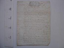 Cahier Manuscrit PARCHEMIN Ecriture 1698 - TOUT EST EN PHOTO ;-) - Manoscritti