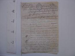 Cahier Manuscrit PARCHEMIN Ecriture 1753 - TOUT EST EN PHOTO ;-) - Manoscritti
