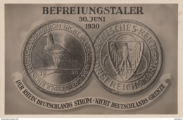 """AK - BEFREIUNGSTALER """"Der Rhein, Deutschlands Strom, Nicht Deutschlands Grenze"""" - Feldpost1940 - Monete (rappresentazioni)"""