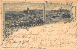 GRUSS Aus FRANKENMARKT AUSTRIA~PANORAMA + BAHNHOF~KARL SCHWIDERNOCH 1899 PHOTO POSTCARD 48066 - Autriche