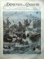 La Domenica Del Corriere 10 Agosto 1913 Rontgen Ospedale Messina Mussini Raggi X - Libri, Riviste, Fumetti
