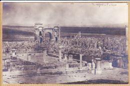 Alg062  Rare Carte-Photo TIMGAD Thamugadi FORUM Arc Triomphe Algérie Cité Antique Appelée POMPEI Afrique Nord-1920s - Altre Città