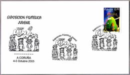 LOS LUNNIS. Exp.Filatelica Juvenil. A Coruña, Galicia, 2005 - Puppets