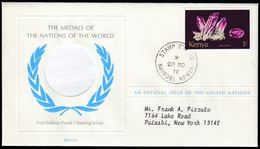 KENYA - Scott #448 Amethyst, First Day Cover (FDC212) - Kenya (1963-...)