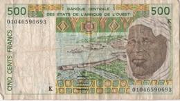 Afrique Ouest : 500 Francs K (mauvais état) - Bankbiljetten