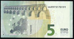 5 EURO - ESPAÑA  -  SPAIN -  VA V007 C5 - VA9973170191 - USED - BILLETE CIRCULADO. - EURO