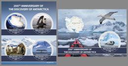 MALDIVES 2020 MNH Discovery Of Antarctica Entdeckung Der Antarktis Decouverte Antarctique SET - OFFICIAL ISSUE - DHQ2032 - Expediciones Antárticas